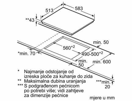 Električna ploča za kuhanje od staklokeramike BOSCH PKF645B17E