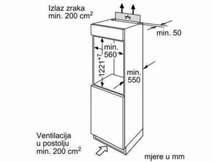 Ugradbeni hladnjak A+ BOSCH KIR24V21FF