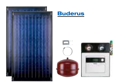 Buderus solarni paket Topas 2R light – ravni krov