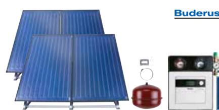 Buderus solarni paket SKN 5R – ravni krov