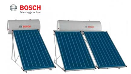 BOSCH termosifonski solarni paket 300 lit. – ravni krov