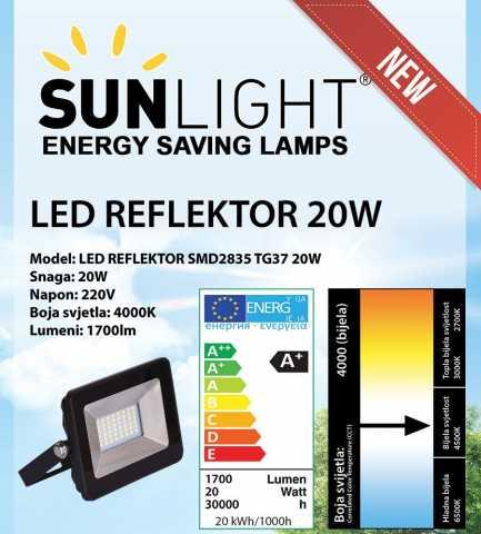 LED reflektor 20 W Sunlight 4000K IP65 1700 lm