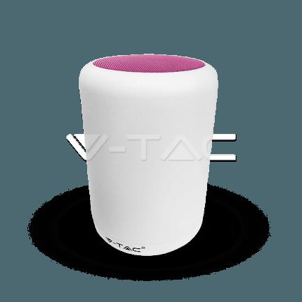 LED dimmabilna stolna lampa sa zvučnicima 5W 3000K+RGB (roza)
