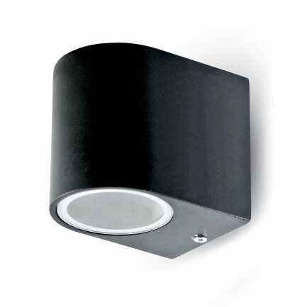 Zidna-Sleek-Zidna-kučište-Aluminium-okruglo-crno-1Way-IP44