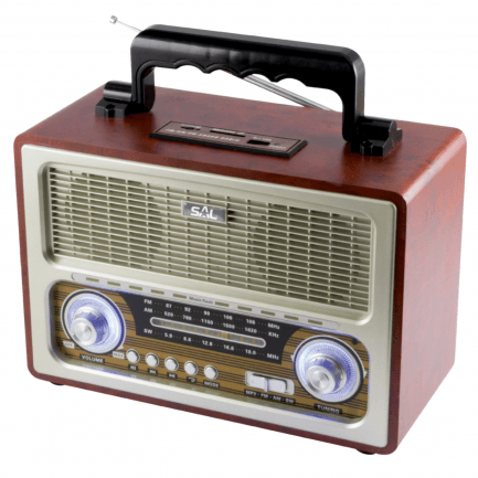 Bluetooth zvučnik + retro radio SAL RRT 3B 4u1