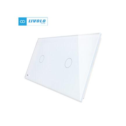 Livolo stakleni panel 1 tipka + 1 tipka bijeli