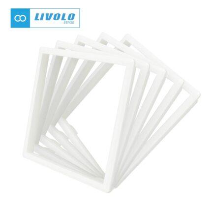 Livolo dekorativni okvir za utičnice/module bijeli