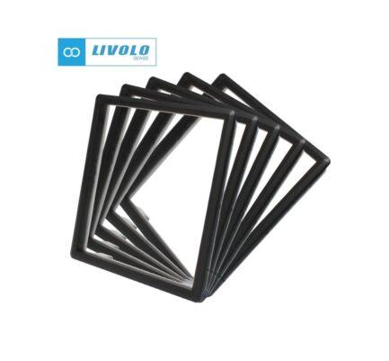 Livolo dekorativni okvir za utičnice/module crni