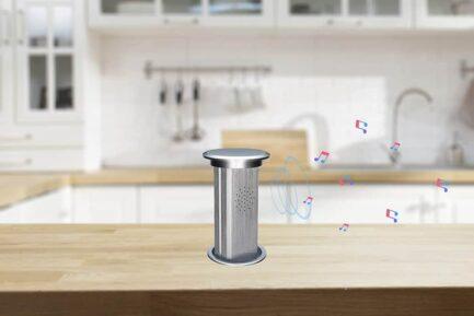 Livolo automatska izvlačna utičnica s Bluetooth zvučnikom i wireless punjačem IU-2WBT-15/15