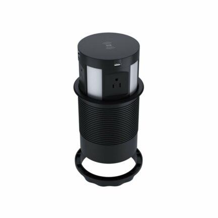 Livolo niska izvlačna utičnica s wireless punjačem crna IU-4PW-12/12