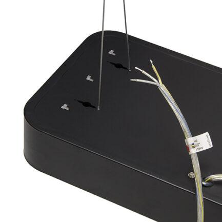 LED visilica Flara 24W 4000K 60cm crna Strühm