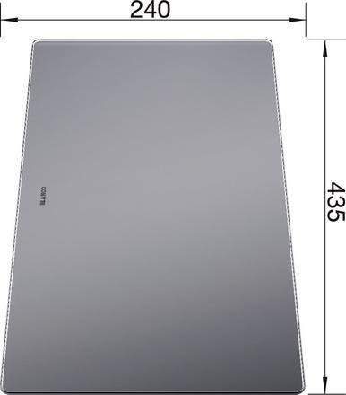 Daska za rezanje Blanco ANDANO, MEVIT XL 6 S – STAKLO (435x240mm)