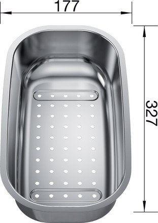 Kadica za BLANCO PLUS 6 S, TIPO 6, 6 S, VIVA 6 (327x177mm) INOX 18/10