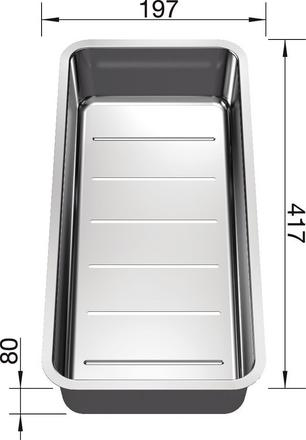 Kadica za Blanco ANDANO (417x197mm) INOX 18/10