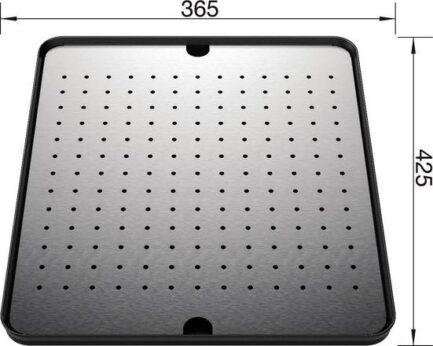 Dio za cijeđenje Blanco SUPRA i BLANCO YPSILON –  rupičasti INOX 18/10 (425x365mm)