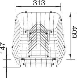 Košarica sa stalkom za tanjure za Blanco CLASSIC, NOVA, METRA, AXIS  INOX 18/10 (409x313mm)