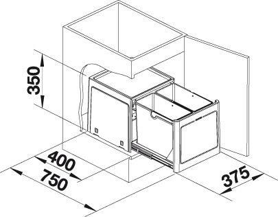 Sustav za odvajanje otpada Blanco SELECT BOTTON Pro 45/2 AUTOMATSKI