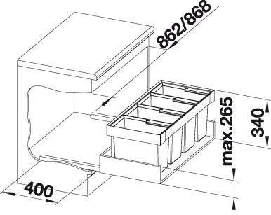 Sustav za odvajanje otpada Blanco FLEXON II 90/4