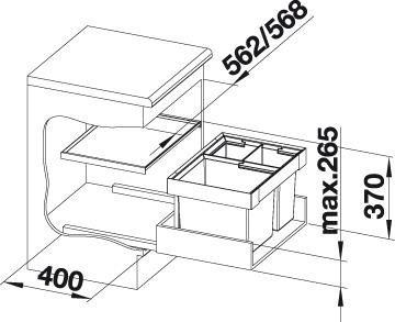 Sustav za odvajanje otpada Blanco FLEXON II XL 60/3